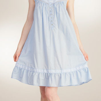 Eileen West Short Blue  EMBROIDERED SCROLL CHEMISE E5316032