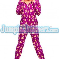 Purple Duckie Footed PJs