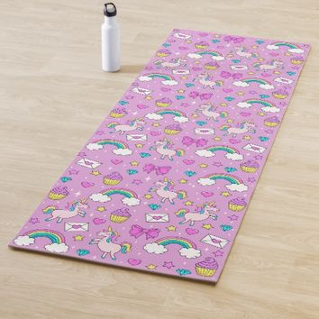 Cute Unicorn Pattern Yoga Mat