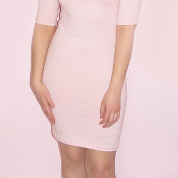 Gorgeous Light Pink Mini Bodycon Dress