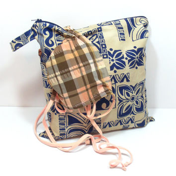 Toiletry Wet Bag, Blue and Natural, Tropical Wet Bag, Wet Bag for Clothes, Bathing Suit Wet Bag, Bag for Camping, Swim Team Bag, WetBag