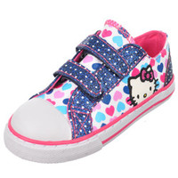 Hello Kitty Girls -Heart Mirror Low-Top Sneakers (Toddler Sizes 5 - 10)-hek02502