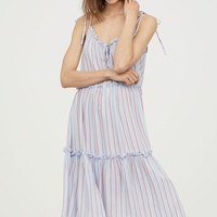H&M Sleeveless Ruffle-trim Dress $34.99