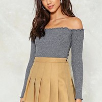 Eager to Pleat Mini Skirt