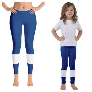 Tampa Bay Lightning Colored Hockey Leggings