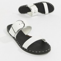 Depp Leather Flat Sandals at asos.com