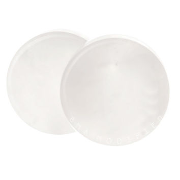 Concave White Jade Stone Plugs BMA (6mm-27mm) 2g - 1 1/8""