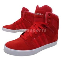 Adidas Bbneo Hitop Neo Red White 2014 Mens Fashion Casual Shoes Sneakers