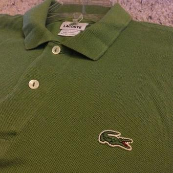 Sale!! Vintage green LACOSTE casual Polo Shirt size 3 Free US shipping