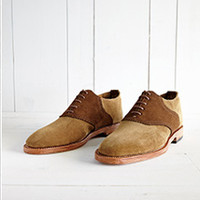 Suede Saddle Oxfords