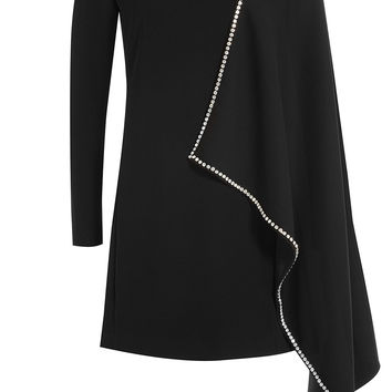 McQ Alexander McQueen - Dress with Embellished Cape Detail