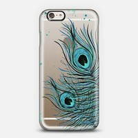 Peacock Feather Crystal Clear iPhone 6 case by Monika Strigel | Casetify