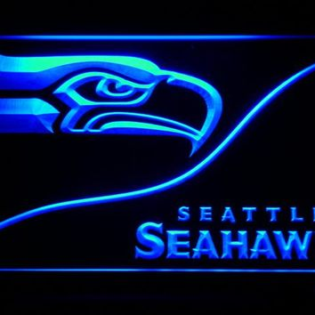 Seattle Seahawks Bar LED Neon Sign with On/Off Switch 20+ Colors 5 Sizes to choose