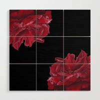 Roses are Red Wood Wall Art by drawingsbylam
