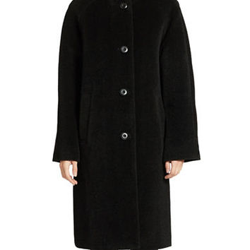 Jones New York Petites Petite Long Wool Blend Coat