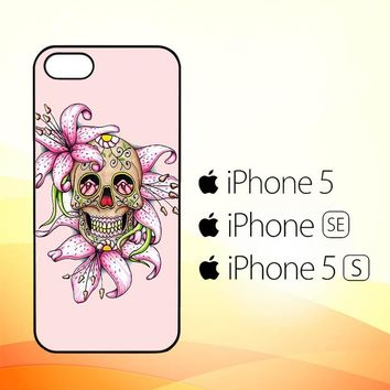 Sugar Skull Crow Honey bird Flower V0503  iPhone 5|5S|SE Case