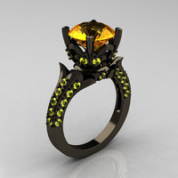 Classic French 14K Black Gold 30 Carat Citrine by artmasters