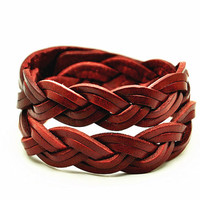 Wrap Bangle Bracelet,Real Leather Bracelet  Women Leather Bangle Bracelet ,Girl Bracelet men Leather Bangle CB14