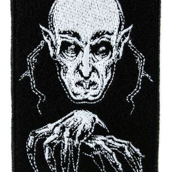Nosferatu 1922 Vampire Count Orlok Patch Iron on Applique Vampire Dracula