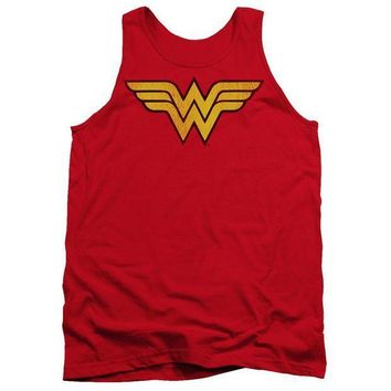 PEAP9 Wonder Woman Logo Dist Adult Tank
