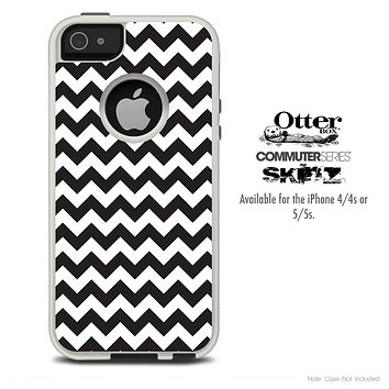The Black & White Skin For The iPhone 4-4s or 5-5s Otterbox Commuter Case