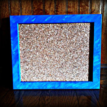 Hand Painted Wooden Framed Cork Board