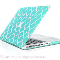 "TopCase Quatrefoil / Moroccan Trellis Hot Blue Ultra Slim Matte Hard Case Cover for Macbook Pro 13-inch 13"" A1278 - NOT for Retina Display"