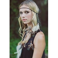 Feather Headband #B1005