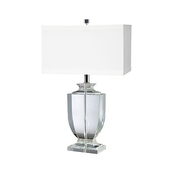 722 Crystal Rectangular Urn Table Lamp