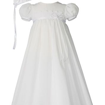 Little Things Mean A Lot Christening Gown & Hat Set (Baby Girls) | Nordstrom