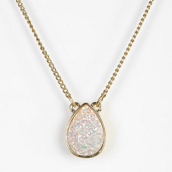 Urban Outfitters - Teardrop Druzy Necklace