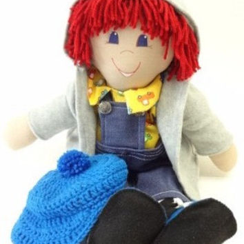 Rag Doll red hair blue eyes handmade boy doll ragdoll for you to love, NF98