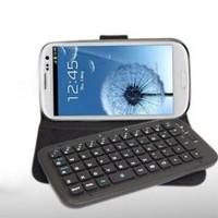 MegaGear Bluetooth 3.0 Wireless Slide Keyboard Case Cover with MegaGear Pouch Case For Samsung Galaxy S4 i9500