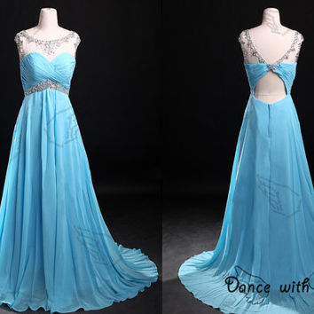 Sweetheart blue rhinestones beading prom dress,prom dress,long prom dress,bridesmaid dresses,evening dresses,bridesmaid dress,evening dress