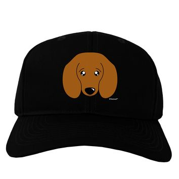 Cute Doxie Dachshund Dog Adult Dark Baseball Cap Hat by TooLoud