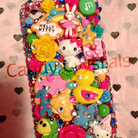 Color Carousel Deco iPhone 4/4S Case by CandyCrystalsLA on Etsy