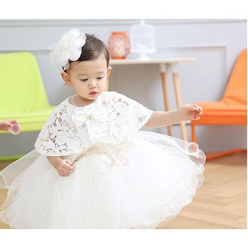 2016 Hot Sale Baby Birthday Party Kids Dress Baby Girl Christening Gowns Baby Flower Girl Baptism Dresses Factory Direct 9120