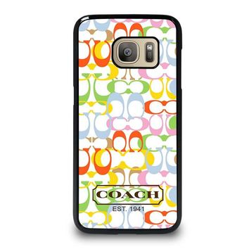 COACH NEW YORK COLORFUL Samsung Galaxy S7 Case Cover