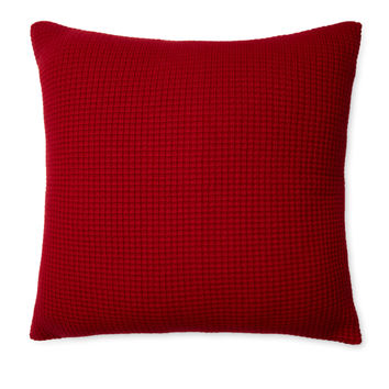 Sofia Cashmere Thermal Cashmere Pillow Cover - Red