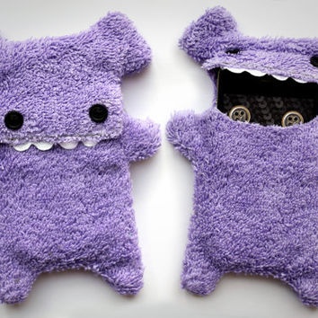 Fellfische - fluffy Cellphone Case for Iphone 3 & 4 - Lilac Teeth