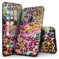 Rainbow Leopard Sherbert - 4-Piece Skin Kit for the iPhone 7 or 7 Plus
