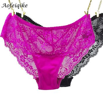 Sexy Transparent Lace Panties Seamless Briefs Bragas Women Underwear Lady Underpants Lingerie Knickers 2016 New
