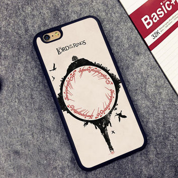 The Lord of the Rings Printed Soft Rubber Mobile Phone Cases For iPhone 6 6S Plus 7 7 Plus 5 5S 5C SE 4 4S Capa funda coque