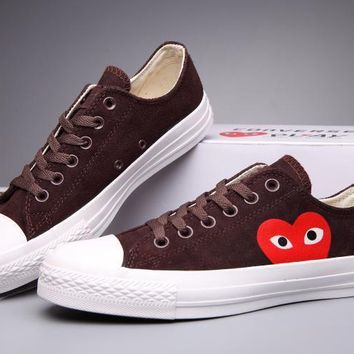 auguau Converse Comme Des Garcons Suede Chuck Taylor All Star  Brown/White