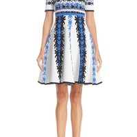 Yigal Azrouël Jacquard Knit Fit & Flare Dress | Nordstrom
