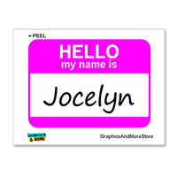 Jocelyn Hello My Name Is Sticker