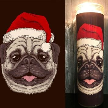 Pug, Pug Dog, Pug Gift, Pug Art, Dog Gift, Pugs, Christmas candle, Gift idea, Home Decor,  Scented  Candle, Prayer Candle, Gift Idea,