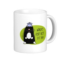 Father's Day, World's Very Best Cat Dad Classic White Coffee Mug