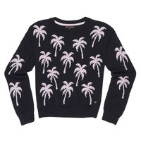 Palm Tree Bubble Jacquard Pullover by Juicy Couture