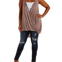 Plus Size Sphinx Twisted Hem High-Low Tank Top by Charlotte Russe